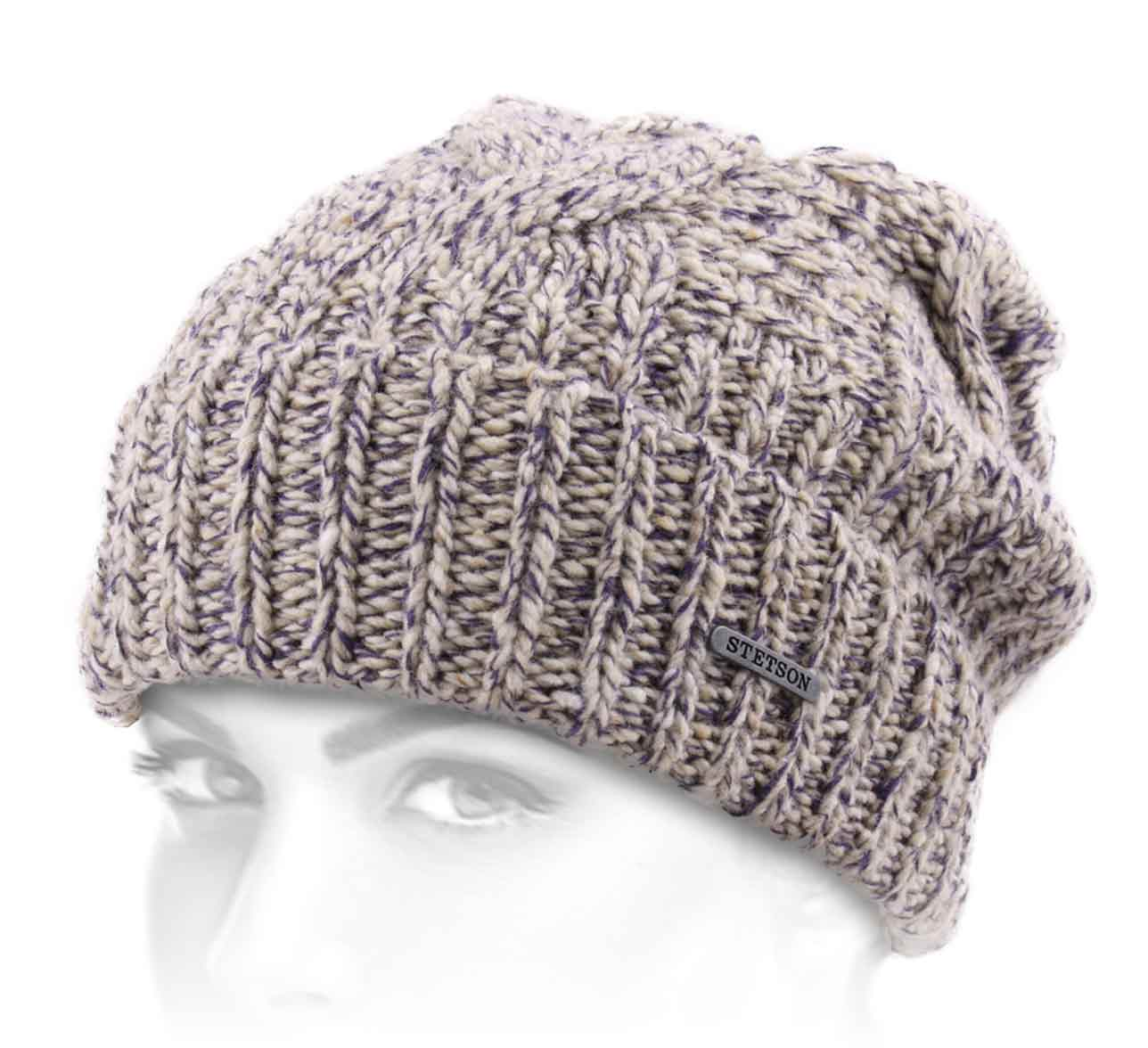 Bonnet crochet Long Beanie Wool/Coton